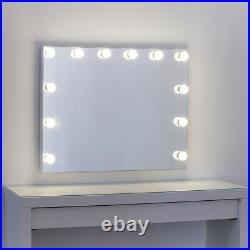 Large Frameless Hollywood Makeup Vanity Mirror with Lights Dimmer LED Bulb