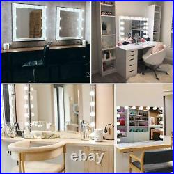 Large Hollywood Lighted Vanity Makeup Mirror 14LED Bulbs Stand or Wall Mount