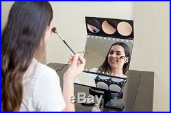 Large Hollywood Makeup Dressing Vanity Mirror with Light Mirror Magicfly Trifold