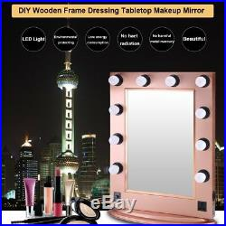 Large Hollywood Makeup Mirror Tabletop Vanity Lighted Dimmable FREE LED Bulb