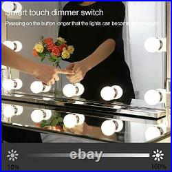 Large Hollywood Makeup Mirror with 14 LED Lights, Lighted Vanity Mirror