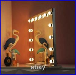 Large Hollywood Makeup Vanity Mirror with LED Lights Bulbs