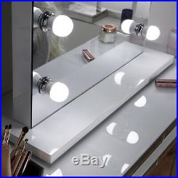 Large Hollywood Mirror LED Dressing Vanity Dimmable Freestanding Makeup Tabletop