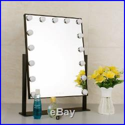 Large Hollywood Vanity 15 Led Bulbs Dressing Table Makeup Mirror with Lights