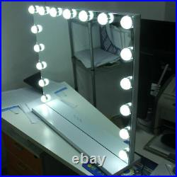 Large Hollywood Vanity Dressing Makeup Table Top Mirror With 17 LED Lights