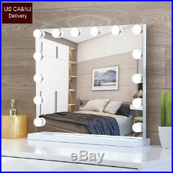 Large Hollywood Vanity Mirror 14 Bulbs 17 LED Lights Makeup Mirror Smart Touch