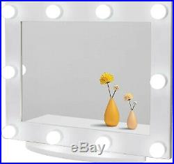 Large Hollywood vanity mirror with LED lights AROUND the mirror