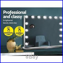 Large Vanity Makeup Mirror With Lights Hollywood Lighted Dressing Tabletop Mirro