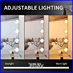 Large Vanity Makeup Mirror With Lights Hollywood Lighted Smart Dimmable 17 Led