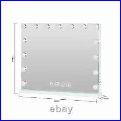 Large Vanity Mirror with Lights, 15 Dimmable LED Hollywood Makeup Mirror with