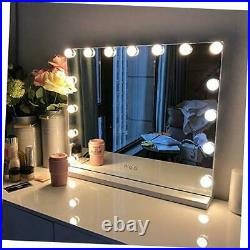 Large Vanity Mirror with Lights, Hollywood Lighted Makeup Mirror with 15 White