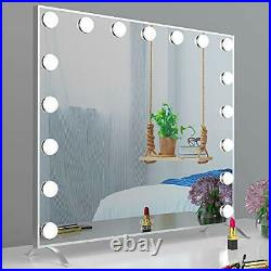 Large Vanity Mirror with Lights Hollywood Lighted Makeup Mirror with 17