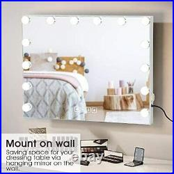 Large Vanity Mirror with Lights and Bluetooth Speaker Hollywood Lighted Makeup