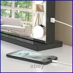 Large Vanity Mirror with Lights and Blutooth Speaker, Hollywood Lighted Black