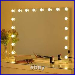 Lighted Hollywood Makeup Mirror Extra Large, Smart Touch Screen Vanity