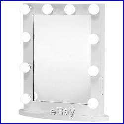 Lighted Hollywood Makeup Vanity Mirror with Light Dimmer Stage Beauty Mirror