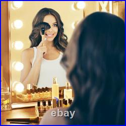Lighted Hollywood Vanity Makeup Mirror 10pcs Dimmable LED Lighting Table Bedroom