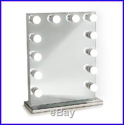 Lighted Hollywood Vanity Mirror 12LED Bulbs includes Outlets and USB With Dimmer