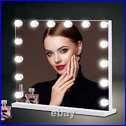 Lighted Makeup Mirror with Light, Hollywood Vanity Mirror with 14 LED Bulbs and