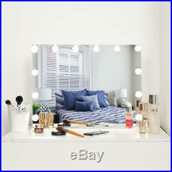 Lighted Makeup Vanity Mirror, Frameless Light-up Hollywood USB Dimmable Bulbs