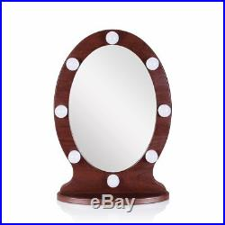 Lighted Vanity Mirror Hollywood Style Makeup Mirror with Lights, Oval Table Top