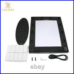 Lighted Vanity Mirror Hollywood Style Tabletop Makeup Mirrors Adjustable Bright