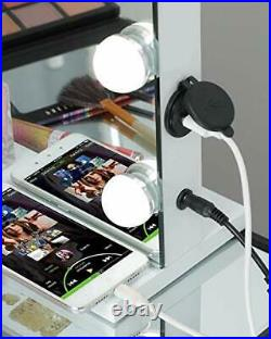 Lighted Vanity Mirror with 12pcs Dimmable Led Bulbs, Hollywood Makeup Mirror