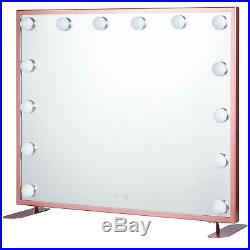 Luxury Hollywood Makeup Mirror Lighted Vanity Mirror Beauty Smart Touch Tabletop