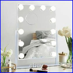 MISAVANITY Hollywood Vanity Makeup Mirror with Lights, Small-White Small-white