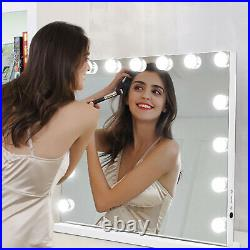 Make Up Mirror withLights 15 LED Kit Bulbs Vanity Light Dimmable Lamp Hollywood