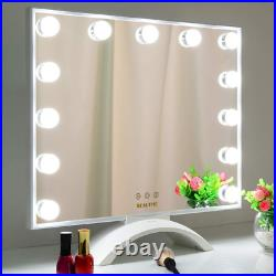 Makeup Mirror with Lights, Hollywood Lighted Vanity Mirror with LED UV Nail with