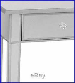 Makeup Vanity Table Console Mirrored Desk Hollywood Wooden Glass Modern Home New