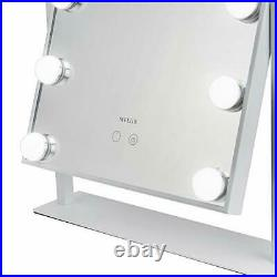 Melur Hollywood Light Up Vanity Makeup Mirror White with LED Lights for Makeup