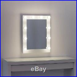 MissMii Hollywood Lighted Makeup Vanity Mirror With Dimmer, Tabletop Or Wall LED