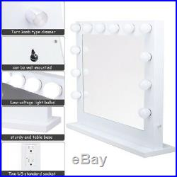 Modern Hollywood Lighted Makeup Vanity Dressing Mirrors Furniture 33''x27''x8'