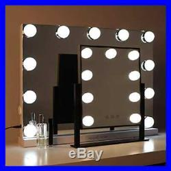 Moon Hollywood Vanity Mirror W LightsProfessional Makeup Smart Touch Adjustable