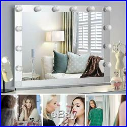 Nitin Hollywood Style Lighted Vanity Mirror Tabletop Makeup Mirror with Dimme