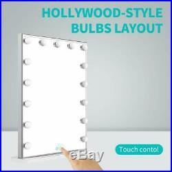 Nitin Hollywood Vanity Mirror With Lights, Dimmable Tabletop/Wall Cosmetic Light