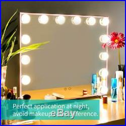 Nitin Lighted Vanity Mirror with Touch Control Design, Hollywood Rose Gold