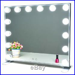 Nitin Lighted Vanity Mirror with Touch Control Design Hollywood Style Makeup