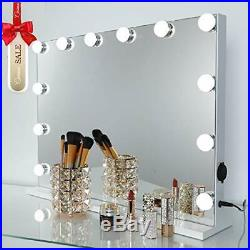 OUO Hollywood Makeup Vanity Mirror with Lights, Touch Screen Mirror with 12