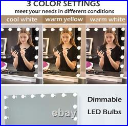 OUO Lighted Hollywood Makeup Mirror Extra Large, Smart Touch Screen Vanity with