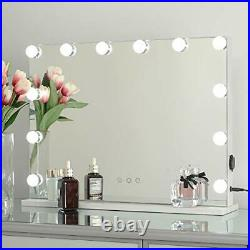 OUO Lighted Vanity Mirror, Hollywood Makeup Mirror, Smart Control Mirror with 12