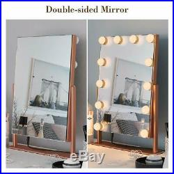 Ovonni Lighted Vanity Hollywood Makeup Mirror, Dimmable 360°Rotating