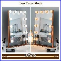 Ovonni Lighted Vanity Hollywood Makeup Mirror Dimmable 360°Rotating Double-si