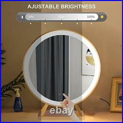 Peralng Vanity Makeup Mirror with Lights, 50CM Round Hollywood Lighted Mirror