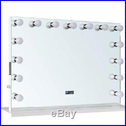 ReignCharm Hollywood Vanity Mirror with Bluetooth Speakers, 15-LED Bulbs, Dual