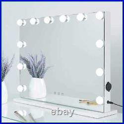 SHOWTIMEZ Hollywood Lighted Vanity Mirror W 12 Dimmable Bulbs USB Charging Port