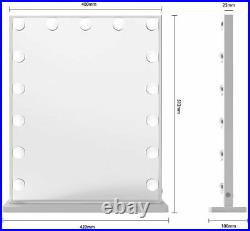 Silver Hollywood LED Vanity Mirror Beautme Portrait base of wall mountable