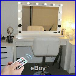 Stable Base Hollywood Makeup Vanity Mirror Dimmable Bulbs USB SD Slot BT Speaker